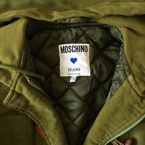 Vintage Moschino Hooded Bomber Jacket